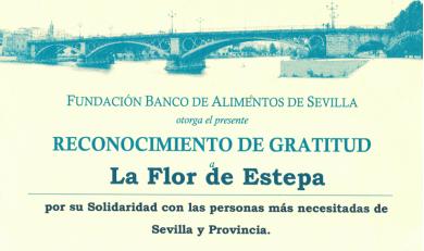 El Banco de Alimentos de Sevilla nos hace un reconocimiento
